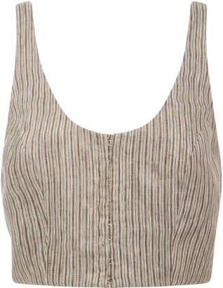 Latest Sale Online Fashion Style Cropped Linen Bustier Top Mara Hoffman Sale Discount HDHgPAcuh