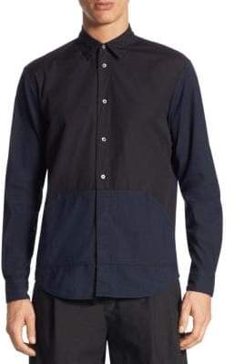 McQ Darkbrook Cotton Button-Down Shirt
