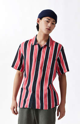 Obey Wicker Stripe Short Sleeve Button Up Camp Shirt