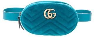 Gucci Velvet GG Marmont Waist Bag