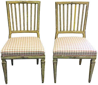 One Kings Lane Vintage Antique Painted Gustavian Chairs - Vermilion Designs