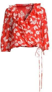 Rixo Sofia Floral Silk Blouse
