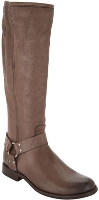 Frye Medium Calf Leather Tall Shaft Boots - Phillip Harness