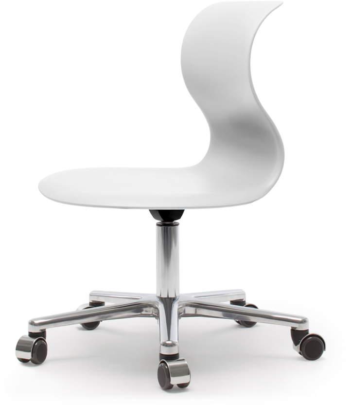 Flötotto Systemmöbel GmbH Flötotto - Pro Chair 6 Drehstuhl, Schneeweiß, Gestell Aluminium poliert, weiche Rollen (mit Chrom-Abdeckung)