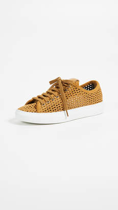 Zespà Perforated Lace Up Sneakers
