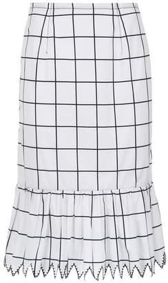 Reinaldo Lourenço pencil checkered skirt