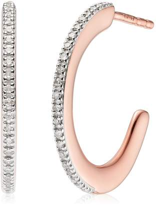 Monica Vinader Fiji Skinny Hoop Diamond Earrings