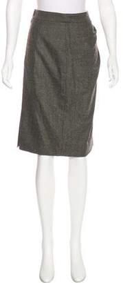 Lela Rose Knee-Length Wool Skirt w/ Tags
