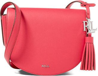 Ralph Lauren Leather Mini Caley Saddle Bag $148 thestylecure.com