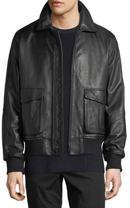 Vince Men's Leather Aviator Jacket