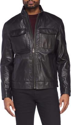 Cole Haan Genuine Leather Trucker Jacket