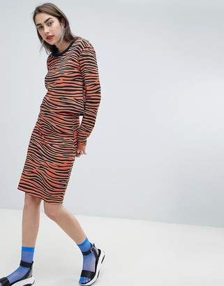 House of Holland Exclusive tiger print pencil skirt two-piece