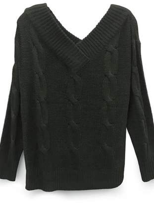 RD Style Cableknit Pine Sweater