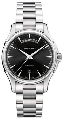 Hamilton Analog Day Date Stainless Steel Bracelet Watch
