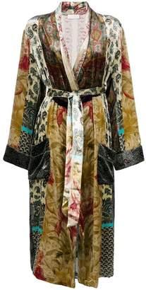 Pierre Louis Mascia Pierre-Louis Mascia long velvet kimono