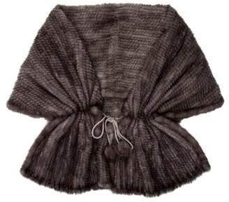 Pologeorgis Knitted Mink Fur Shawl