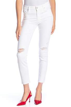 Mother The Looker Ankle Frayed Jeans