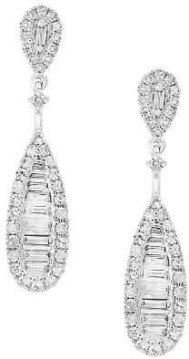 Bloomingdale's Diamond Baguette Teardrop Earrings in 14K White Gold, 0.60 ct. t.w. - 100% Exclusive