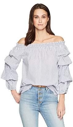 Max Studio Women's Off The Shoulder Cotton Shirting
