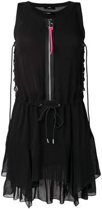 zipped shift mini dress - Black Diesel MMiQx