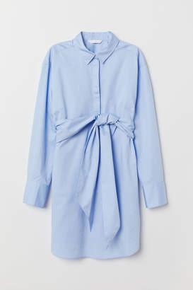 H&M MAMA Tunic with Tie Belt - Blue