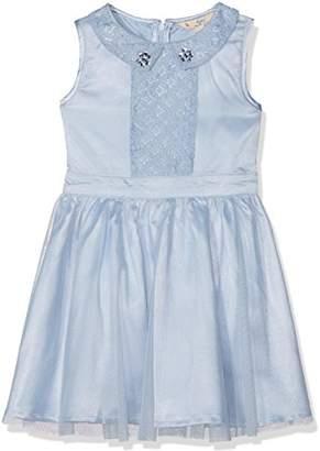 Yumi Girl's Sequin Collar Dress, (Sky Blue)