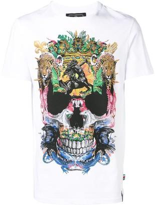 Philipp Plein studded abstract skull T-shirt