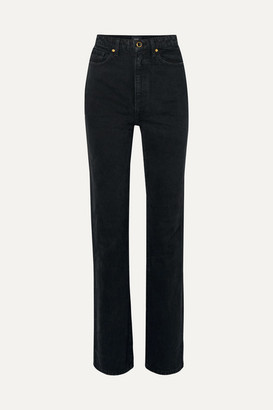 KHAITE Danielle High-rise Straight-leg Jeans - Black