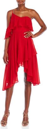 Keepsake Downtown Ruffle Dress