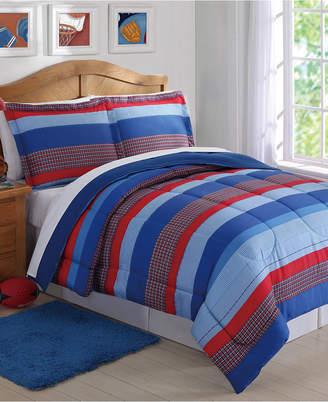Sebastian My World Reversible 3-Pc. Stripe Full/Queen Comforter Set Bedding