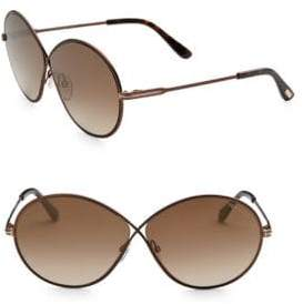 Tom Ford Rania 64MM Oval Sunglasses