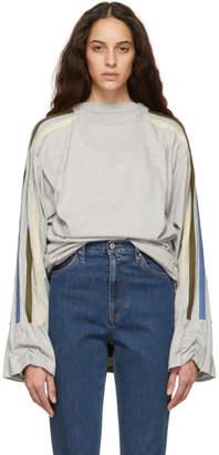 Y/Project Grey Five Layer Sweatshirt Dress