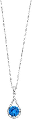 Brilliance+ Brilliance Oval Teardrop Pendant Necklace with Swarovski Crystal