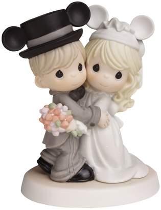 Precious Moments Disney's Mickey Mouse Wedding Couple Wearing Mickey Ears Figurine