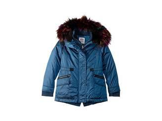 Appaman Kids Extra Soft Lined Middie Puffer Coat Faux Fur Hood (Toddler/Little Kids/Big Kids)