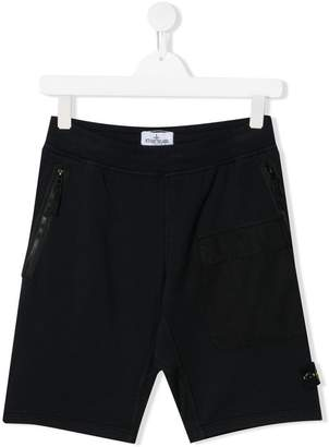 Stone Island Junior logo sweat shorts