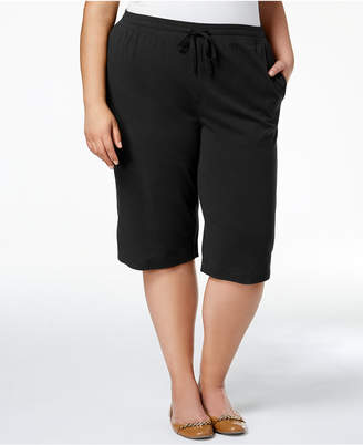 Karen Scott Plus Size Cotton Capri Pants, Created for Macy's