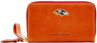 Dooney & Bourke NFL Ravens Zip Around Phone Wristlet