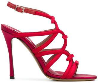 Tabitha Simmons strappy stiletto sandals