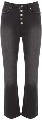 Mint Velvet Bellflower Black Bootcut Jeans