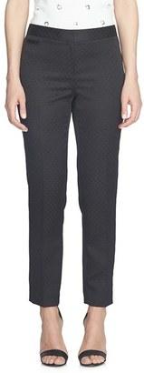 CeCe Foulard Jacquard Stretch Slim Pants $99 thestylecure.com