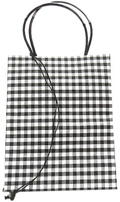 The Brave Brown Bag Small Check Wax Cotton Tote