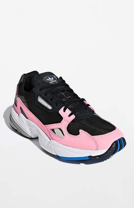c57c88971 adidas Women s Black   Pink Falcon Sneakers