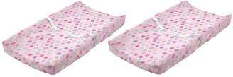 Summer Infant Plush Pals Changing Pad Cover - 2 Pack, Pink Swirl