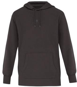 Belstaff Padox Logo Embroidered Hooded Cotton Sweatshirt - Mens - Grey