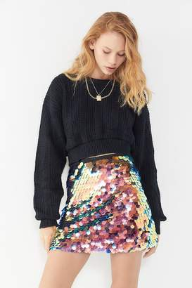 Motel Wyne Sequin Mini Skirt
