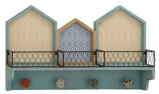 Benzara Wooden Wall Shelf with Hook