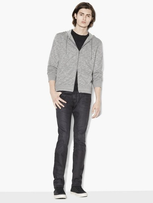 French Terry Zipped Hoodie $168 thestylecure.com