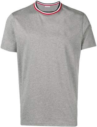 Moncler contrast collar short sleeve T-shirt