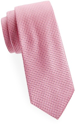 Saks Fifth Avenue Made In Italy Diagonal Neat Silk Tie
